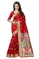 Buy See More Red Color Paithani Silk Saree Paithani 2 Red from Rediff