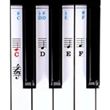 Symphony Pro Piano / Keyboard Stickers For Beginners For 49 / 61/ 76 / 88 Key Keyboards (Piano Stickers) for Rs. 599