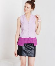 Buy Yepme Aniya Asymmetrical Top - Lavender for Rs. 649