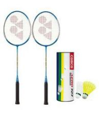 Buy Yonex GR 303 Badminton Racquet Assorted with 6 Shuttles for Rs. 999