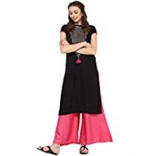 Buy Amayra Women's Rayon Black Kurta (Tck013-Xxl) from Amazon