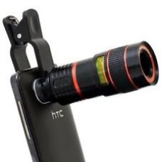 Clip-on 8x Optical Zoom HD Telescope Camera Lens Universal for Mobile Phone for Rs. 365