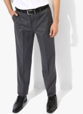 Park Avenue Grey Solid Regular Fit Formal Trouser for Rs. 2150