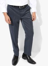 Buy Park Avenue Grey Solid Slim Fit Formal Trouser for Rs. 2150