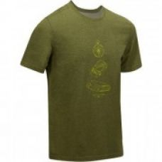 Men's short sleeved lowland hiking t-shirt Tech TIL 100 mottled khaki for Rs. 299