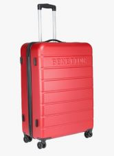 Buy United Colors of Benetton Red Polycarbonate Strolley from Jabong