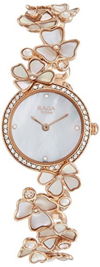 Buy Titan Raga Analog Mother of Pearl Dial Women's Watch -95030WM01 from Amazon