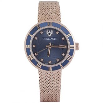 Buy Swiss Eagle Analog Blue Dial Women Watch- SE-9117-33 from Amazon