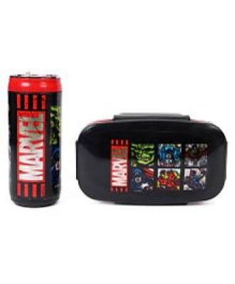 Get 10% off on Marvel Avengers Lunch Box With Bottle - Black & Red