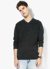 Buy SPYKAR Charcoal Solid Pullover Sweater from Jabong