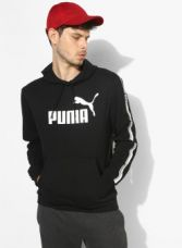 Flat 40% off on Puma Elevated Ess Tape Black Printed Sweatshirt