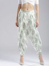 Get 40% off on W W Off-White & Green Printed Dhoti Pants