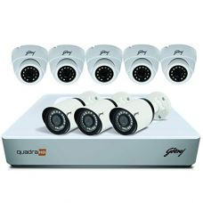 Buy Godrej Security Solutions See Thru 1080P 8 Channel 5 Dome 3 Bullet Cameras HD Full CCTV Camera Kit (White) from Amazon