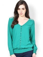 Flat 60% off on Harpa Women Sea Green Top