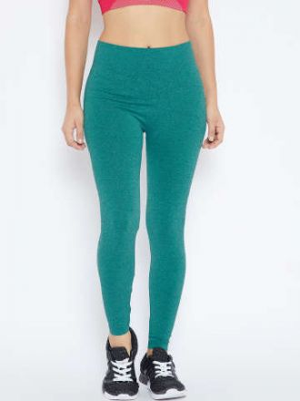 3a6a31ab5a041 C9 Women Teal Green Solid Ankle-Length Leggings for Rs. 319 ...