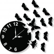 Get 57% off on Enamel Designer Black Wall Clock - Clock030