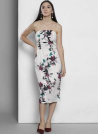 Flat 50% off on DOROTHY PERKINS Grey Coloured Solid Shift Dress