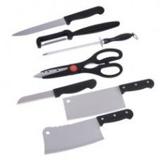 Shopper52 7 Piece Stainless Steel Kitchen Knife Set With Knife Scissor - Hknife for Rs. 299