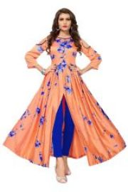 Buy Morpich Fashion Sibori Printed Gown(code-westernorangegown) from Rediff
