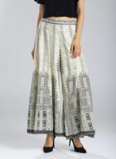 Get 45% off on W Off-White Printed Palazzo