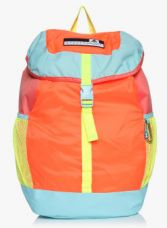 Buy Adidas Women Orange & Blue Colourblocked Backpack from Jabong