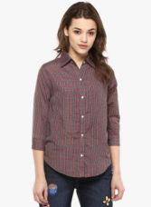 Flat 70% off on Mayra Multicoloured Checked Shirt