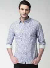 Get 55% off on Celio Blue Printed Regular Fit Casual Shirt