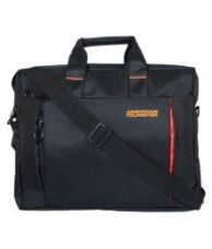 American Tourister Black Polyester Office Bag laptop bag for Rs. 849