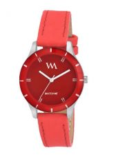 Flat 70% off on WM Women Red Analogue Watch WMAL-211zx