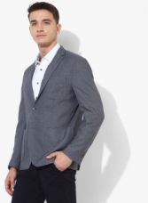 Buy U.S. Polo Assn. Charcoal Self Design Regular Fit Blazer for Rs. 3149