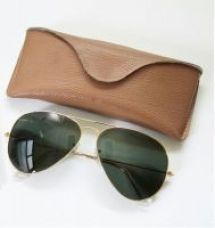Aviator Sunglass Golden Frame Green Lens With Trendy Carry Case for Rs. 407
