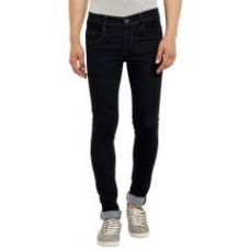 Flat 44% off on Waiverson Slim Fit Men's Black Jeans (code - Dp-dnm-blk-1003)