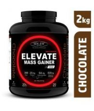 Buy Sinew Elevate Mass gainer with Digestive Enzymes, 2 Kg Chocolate 2 kg Mass Gainer Powder for Rs. 1349