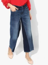 Buy Vero Moda Navy Blue Washed Mid Rise Boyfriend Fit Jeans for Rs. 1399
