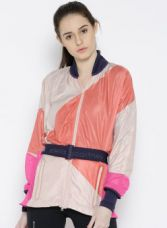 Buy Adidas Stella McCartney by Adidas Women Orange RUN KTE Colourblocked Windcheater Jacket from Jabong