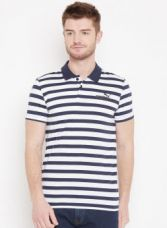 Buy Puma Navy Blue & White Elevated Ess Stripe J Polo T-Shirt for Rs. 1079