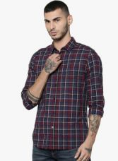 Buy Jack & Jones Multicoloured Checked Slim Fit Casual Shirt for Rs. 1249