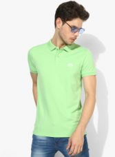 Buy Jack & Jones Green Solid Slim Fit Polo T-Shirt from Jabong
