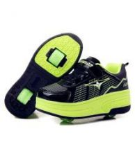 Flat 49% off on A  Green Cool Children Fashion Sneakers with Two Wheels