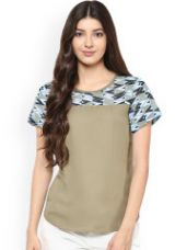 Get 79% off on Top with Printed Yoke