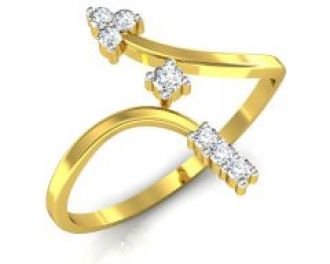 Avsar Real Gold And Swarovski Stone Anjali Ring Bor004a for Rs. 5,740