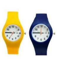 Luba Multicolour Analog Watch - Pack of 2 for Rs. 275