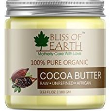 Bliss of Earth™ 100% Pure Organic Cocoa Butter | Raw | Unrefined | African | 100GM | Great For Face, Skin, Body, Lips, DIY products| for Rs. 475