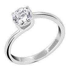 Buy Peora Rejoice Solitaire Ring in 925 Sterling Silver CZ for Women (Silver) (PR8096) from Amazon