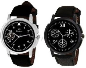 Flat 73% off on X5 FUSION MEN'S WATCH COMBO SMALL TRIANGLE AND 12 4 BK CASE