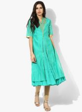 Biba Green Embellished Kurta for Rs. 1815