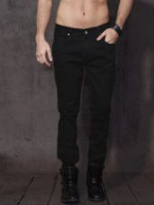 Buy Roadster Time Travlr Men Black Skinny Fit Mid-Rise Clean Look Stretchable Jeans from Myntra