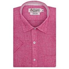 Buy Arihant Men's Checkered Half Sleeves Reguler Fit Cotton Linen Formal Shirts (AR759301_Pink_Size::38) from Amazon