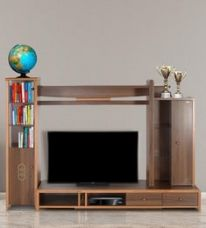 Buy Daisy Wall TV Unit in Light Brown Finish for Rs. 42,500