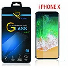 RICH e APPLE IPhone X Tempered Glass Screen Protector Screen to Screen Fit 9H Hardness Bubble Free Anti-Scratch Crystal Clarity 2.5D Curved Screen Guard for APPLE IPhone X for Rs. 199